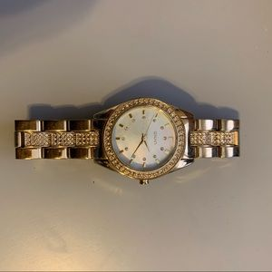 Gold DKNY watch